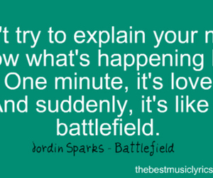 amazing, battlefield, and Lyrics image