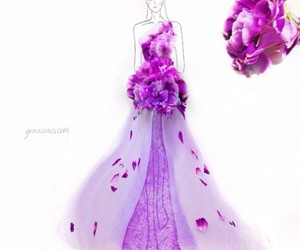 flowers, dress, and fashion image