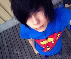 boy, eyes, and hair image