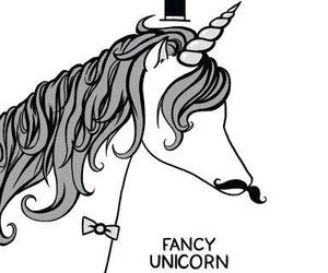 unicorn, fancy, and cute image