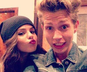 selena gomez, james mcvey, and the vamps image