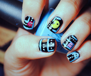 nails, pacman, and cool image