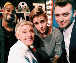 justin bieber, sam smith, and ellen image