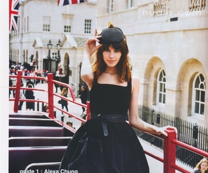 alexa chung and black dress image