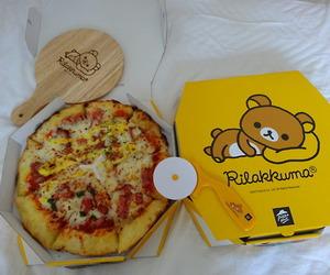 pizza, rilakkuma, and food image