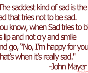 sad, john mayer, and quote image