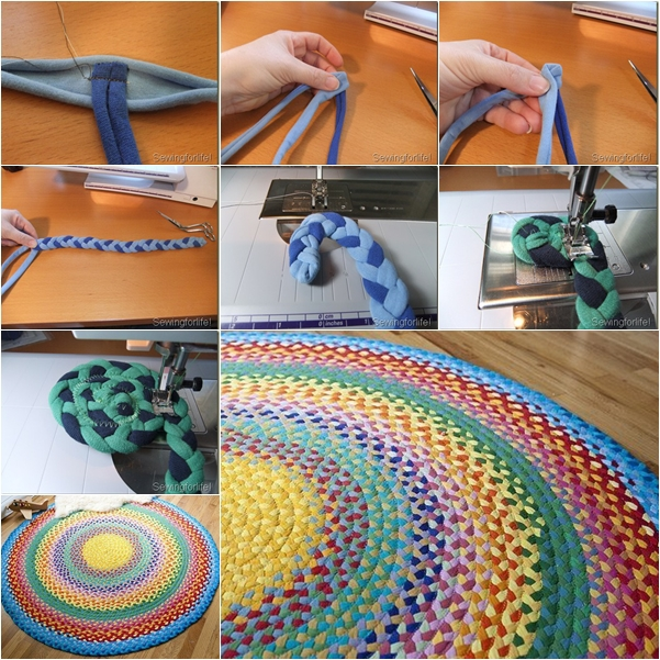 Decoration How To Make Braided Rug With The Creative And Unique
