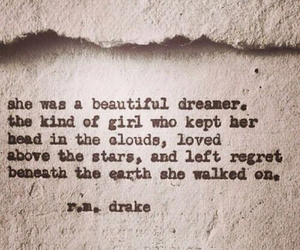 quotes, dreamer, and r.m. drake image