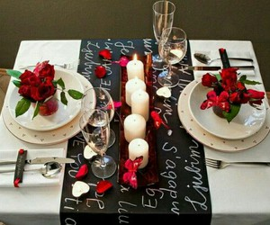 romantic, Valentine's Day, and dinner image