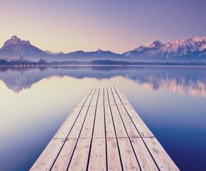 beach, beautiful, and lake image
