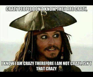 crazy, funny, and pirate image