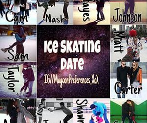 ice skating and magcon preference image