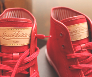 shoes, Louis Vuitton, and red image
