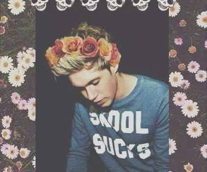 niall, niall horan, and flowers image