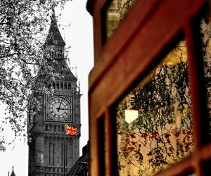 Big Ben, city, and london image