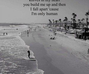 human, beach, and quotes image