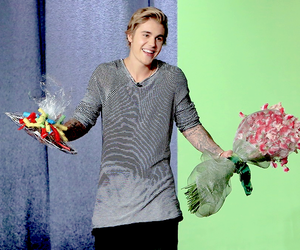 justin bieber, justin, and flowers image