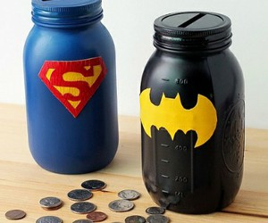 batman, money, and superman image