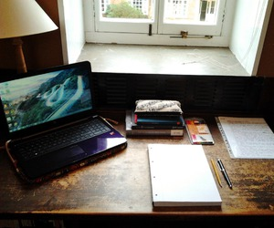 laptop, learn, and notebooks image
