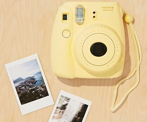 yellow, polaroid, and camera image
