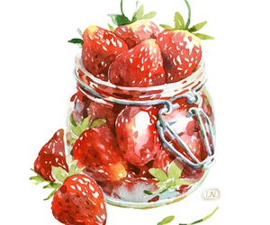 strawberry and art image