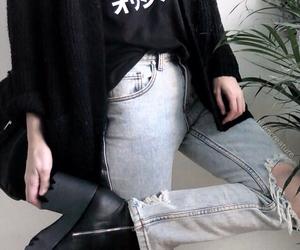 black, grunge, and plant image