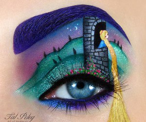 rapunzel, makeup, and eye image