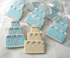 blue, Cookies, and wedding image