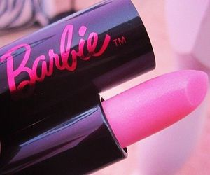 barbie, lipstick, and pink image