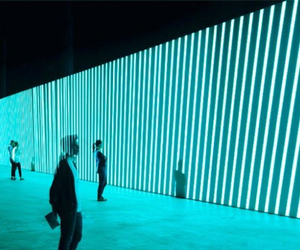art, neon, and stripes image