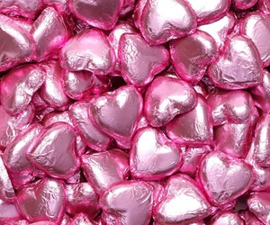 pink, chocolate, and heart image