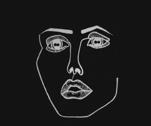 black, face, and disegni image