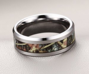 camo, camouflage, and wedding bands image