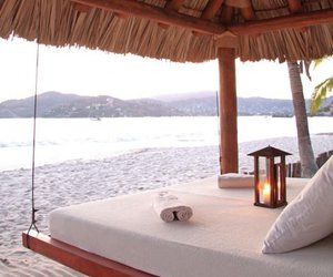 beach, bed, and paradise image