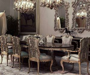 desing, royalty, and dining room image