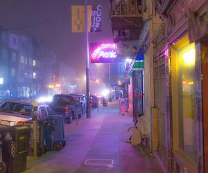 city, lights, and street image
