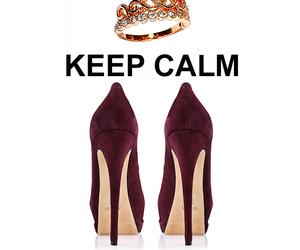 fashion, heels, and keep calm image