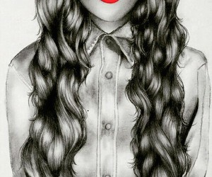 black, kiss, and curly image