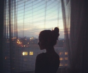 girl, pretty, and window image