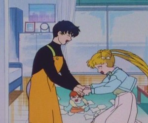 sailor moon, usagi, and mamoru image