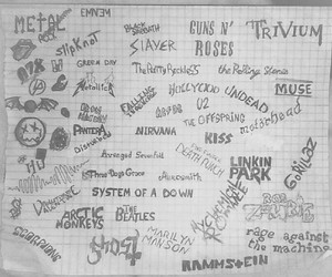 bands, black and white, and draw image