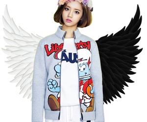 edit, flower crown, and wings image