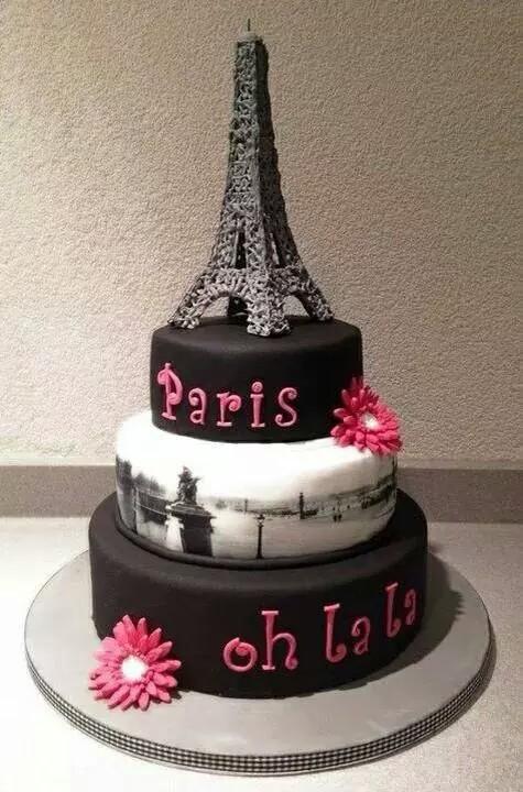 Admirable Paris Cake Uploaded By Olivia Manuela On We Heart It Funny Birthday Cards Online Alyptdamsfinfo