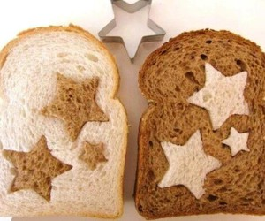bread, food, and star image