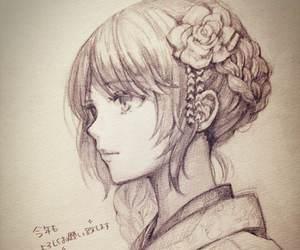 drawing, anime, and beautiful image