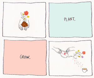 plants, art, and flowers image
