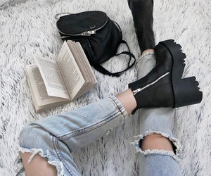 fashion, book, and black image