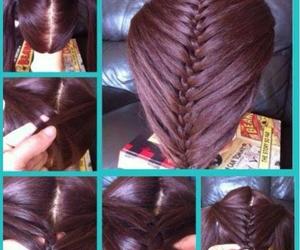 hairstyle, diy hair, and hair image