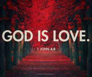 god and God is Love image