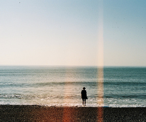 sea, beach, and alone image